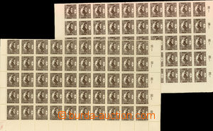 24378 -  Pof.1 and Pof.1C plate mark 2, selection of complete 100-st