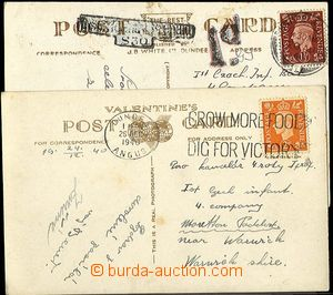 24400 - 1940 2 pcs of Ppc from Dundee addressed to on/for Czechosl.