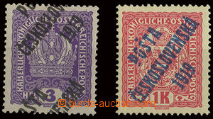 24401 -  Pof.33 + 47, 3h fialová Koruna s výrazným posunem přeti