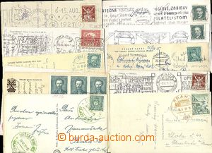 24436 - 1930 selection of 16 pcs of Ppc with various franking and po