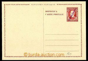 24444 - 1945 CDV-VI., Hlinka 1,50Ks, ruční fialový přetisk, vzad