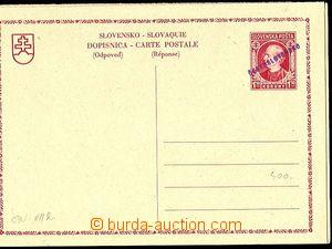 24448 - 1945 CDV-VII/I,II., both parts hand-made violet overprint, p