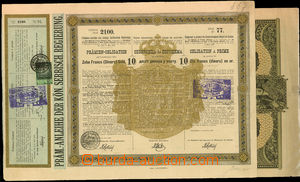 24449 - 1888 - 1915 2  pcs shares, 1x Serbia on 10 golden dinar from