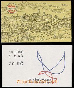 24482 - 1993 - 94 stamp-booklet Pěnkava Pofis 1993 with stamp. Pof.