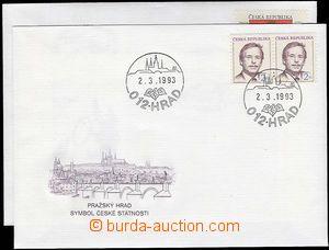 24501 - 1993 - 94 FDC V.Havel POB2 + pamětní obálka Postfily Rege