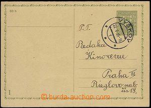 24511 - 1939 CDV56  čs. dvojitá dopisnice 50h Znak, jednostranně