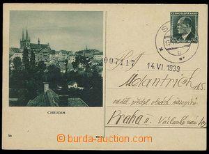 24518 - 1939 CDV72/39 Chrudim, CDS Seč 13.VI.39, very fine piece. S