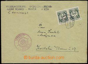 24528 - 1943 8. prapor, dopis vyfr. služebními zn. 2x 60h s DR Ji�