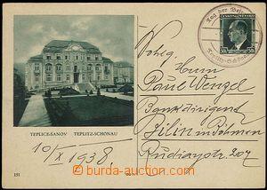 24530 - 1938 čs. obrazová (!) CDV72/151 Teplice-Šanov, provizorní DR