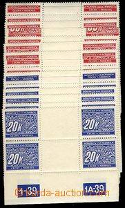 24563 - 1939 Pof.DL1-14, set line in 4 blocks with gutter and plate