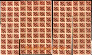 24594 -  15h Karel sestava 3x 30 blok + 1x 50 blok, Pof.38 6x podtyp