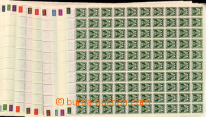 24601 - 1943 issue II  complete set of in 100 stamps sheets, Pof.SL1