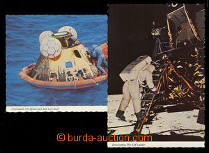 24631 - 1969 COSMONAUTICS  USA Apollo 11, 2 pcs of original color Pp