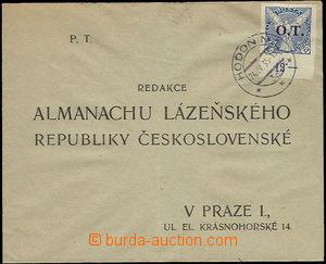24665 - 1935 OT 20h zn s dolním okrajem na odpovědní zásilce s D