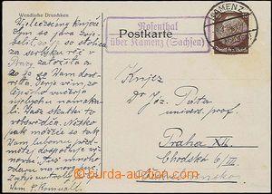 24666 - 1934 NĚMECKO  razítko poštovny Rosenthal / über Kamenitz