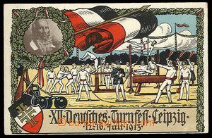 24677 - 1913 PHYSICAL TRAINING, color postcard -  XII. Deutsches (Ge