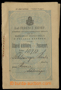 24694 - 1893 Hungarian passport, mounted revenue stamp 1 guilder, go