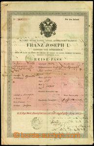 24695 - 1862 Austrian passport, issued in Kroměříž, format A4, s