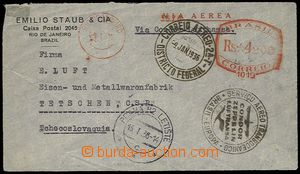24773 - 1936 airmail letter to Czechoslovakia with přepravou CONDOR
