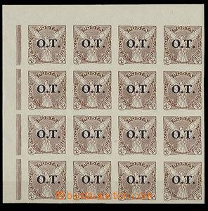 24777 - 1934 Pof.OT3 ST, 30h rohový 16 blok se spojenými typy, lux