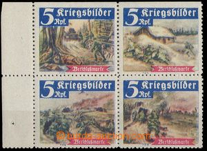 24778 - 1942 Germany,  block of four various labels after/around 5Rp