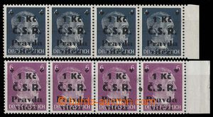 24779 - 1945 Chebský overprint on/for German. stmp 4Pf and 6Pf, alw