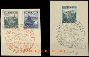 24780 - 1939 2ks výstřižků s PR 50. výročí narozenin AH, Pof.