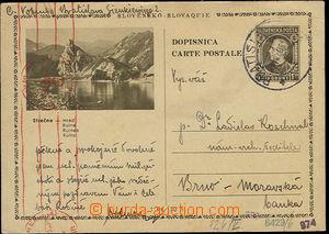 24794 - 1940 CDV4/27 Strečno, zaslaná do Protektorátu, DR Bratisl