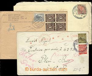 24801 - 1947 - 48 3 ks dopisů zaslaných z okupovaného Německa do