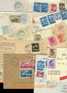 24806 - 1912 - 48 comp. 15 pcs of letters with various frankings, 1x