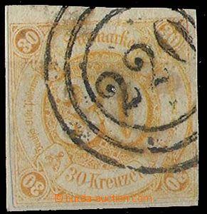 24812 - 1859 Mi.25, 30kr oranžová, razítko tříkruhové 220, zn�