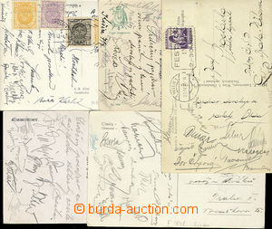 24826 - 1923 - 42 FOOTBALL  comp. 5 pcs of Ppc with signatures Czech