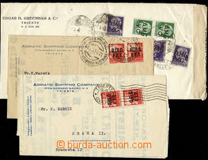 24843 - 1947 - 48 3 pcs of entires to Czechoslovakia, 1x as Register