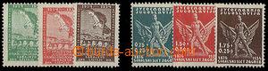 24854 - 1934 Sokol stamp., Mi.272-74 + 275-77, c.v.. 60€