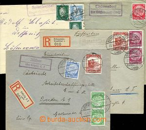 24872 - 1932 - 35 GERMANY  comp. 5 pcs of letters (2x R)s cancel. po