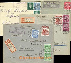 24872 - 1932 - 35 NĚMECKO  sestava 5 ks dopisů (2x R)s raz. pošto