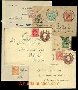 24873 - 1913 - 36 sestava 2ks celin obálek dofr. zaslaných do ČSR