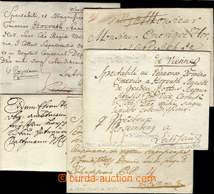 24874 - 1751 - 1793 comp. 5 pcs of folded small letters, 1x cancel.