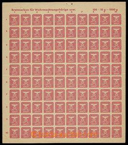 24879 - 1944 Německo  kompletní arch potravinových zn. pro vále�