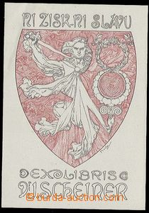 24881 - 1920? MUCHA Alfons (1860–1939): exlibris No gain, no glory