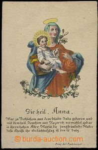 24890 - 1750 - 90? by hand coloured St. picture - Die heil Ann, publ