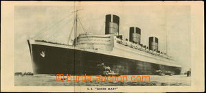 24892 - 1936 plan personal ship Queen Mary, class III., plan palub a