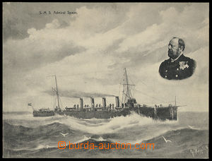 24901 - 1908 SMS Admiral Spaun  Austrian war ship with portrait capt