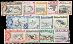 24915 - 1956 Mi.62-74, complete set country and fauna, hinged, c.v..