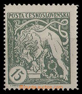 24947 -  15h St. green, Pof.27Ba, very small hint, cat. Merkur-Revue