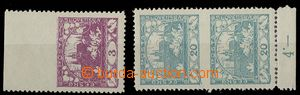 24981 -  2x stamp. Hradčany with omitted perf, 1x Pof.2 with privat
