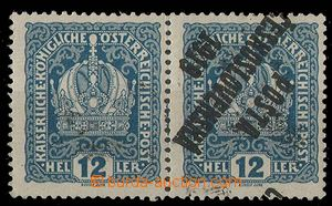 25003 -  Pof.37, 12h, vodorovná dvoupáska, 1zn. převrácený přetisk a