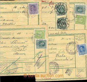 25033 - 1918 5  pcs larger part/-s Austrian credit notes franked wit