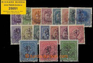 25051 - 1918 Hlubocké vydání (Marešův přetisk), Pof.RV43-60, nekompl