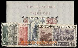 25090 - 1937 - 38 Mi.309-314 + Bl.2, c.v.. 85€